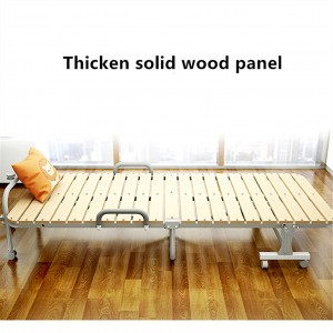 The foldable and durable solid wood portable bed with steel frame is made of natural, so you can use it at ease.