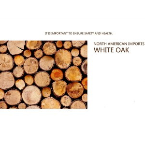 White oak imported from North America to create a pure solid wood frame