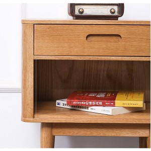 Multi-layer storage solid wood side cabinet