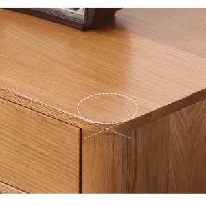 Friendly and humanized 45 degree curved cabinet corner