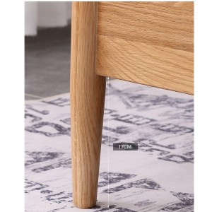 Bold rounded solid wood bed legs