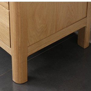 One-piece solid wood cabinet legs