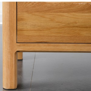 One-piece solid wood thick legs are more stable