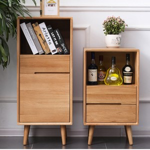 Nordic style solid wood wine cabinet, display storage, both ornamental value and storage function