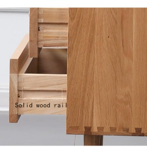 Solid wood guide rail has strong wear resistance