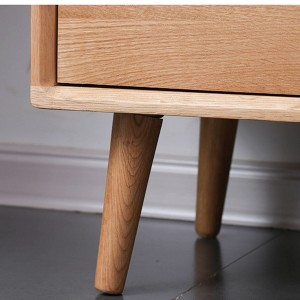 The thick solid wood tilt cabinet legs are designed with a reasonable tilt angle according to the load characteristics of the cabinet to increase the bearing capacity