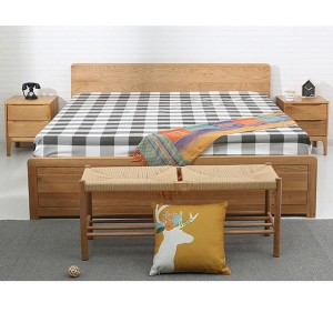 Solid wood box bed can storage