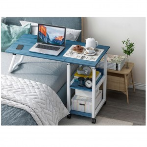 This bedside table is a foldable lazy table. It can be folded and lifted.