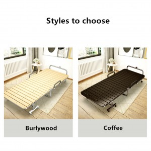 The foldable pure copper wood plank steel bed gives you comfort and space.
